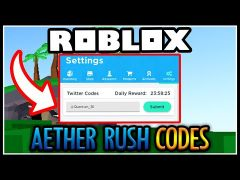 Yar Codes Wiki Roblox Roblox Aether Rush Codes Updated October 2020
