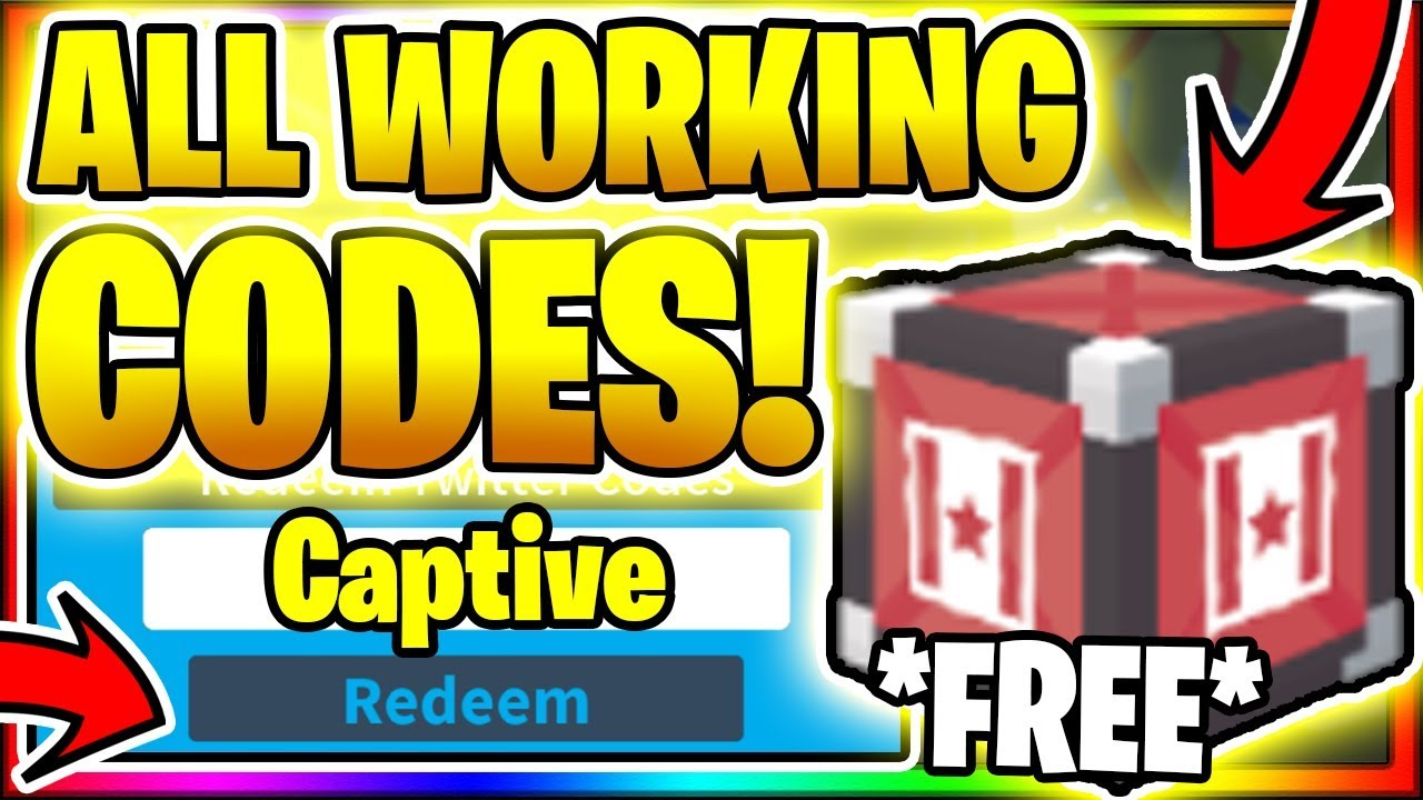 Roblox Captive Codes Updated March 2021